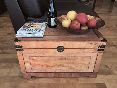 Newport Medium Wood Storage Trunk Wooden Treasure Chest - Brown (Wooden Trunk)