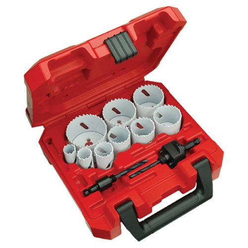 Saw Hole Drill - Milwaukee 49-22-4025 13-Piece General Purpose Hole Dozer Hole Saw Kit