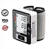 Wrist Blood Pressure Cuff Monitor, Firhealth Fully Automatic Electronic BP Machine 2 User Model 90 Memory Capacity, IHB Indicator,Sphygmomanometer with FDA Approved, Perfect for Personal Home Use