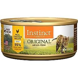 Instinct PMN209 Alimento Húmedo Libre de Granos para Gato Formula de Pollo, Lata de 156 g (5.5 oz)