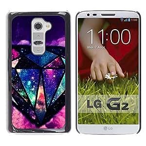 LASTONE PHONE CASE / Slim Protector Hard Shell Cover Case for LG G2 D800 D802 D802TA D803 VS980 LS980 / Cool Bling Universe Mysterious
