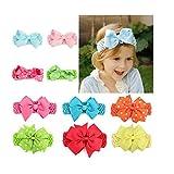 Babies Kids Best Deals - 10PCS Flower Baby Girl Headbands, EveShine Kids Newborn Hair Bows