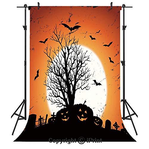 Vintage Halloween Photography Backdrops,Grunge Halloween Image with Eerie