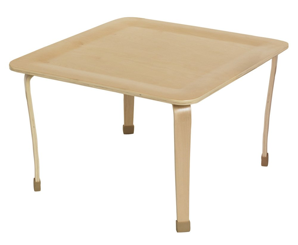 ECR4Kids 30'' Square Bentwood Activity Play Table, 20''H