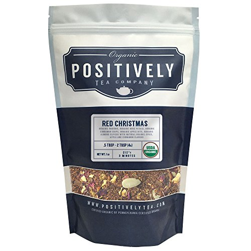 Organic Red Christmas Rooibos Tea, Loose Leaf Tea, Positively Tea LLC. (1 LB.) (Tea Organic Red Apple)