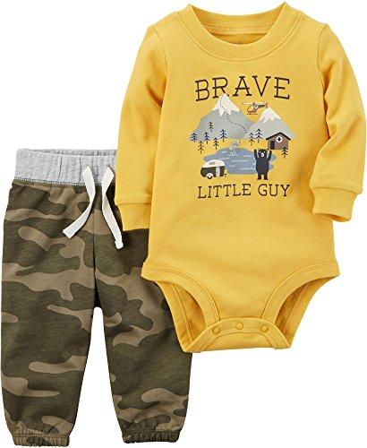 Carter's Baby Boys' 2 Piece Brave Little Guy Bodysuit Pants Set 6 Months (Body 2 Piece Set)