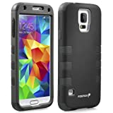 Fosmon® Samsung Galaxy S5 (HYBO-CAGE) Detachable Hybrid Soft Silicone + Hard PC Case Cover for 2014 New Samsung Galaxy S5 SV - Fosmon Retail Packaging (Black)