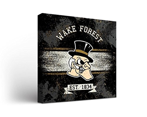 Forest Gate - Victory Tailgate Wake Forest Demon Deacons Canvas Wall Art Banner Design (18x24)