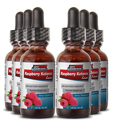Weight Loss Raspberry Ketones - Raspberry Ketones Lean Comples 160mg - Natural Raspberry Ketones Herbal Fat Burner and Appetite Suppressant (6 Bottles 360 Ml) by ''Sport Supplement, LLC'' by Sport Supplement