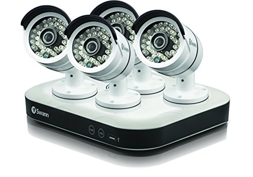 Swann SODVK-8720P134-US 8 Channel 1080p 1TB Security System Digital Video Recorder DVR with 4 x 720p Security Bullet CCTV Cameras by Swann