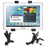 """Fixation /Support voiture grille d'aération 360° adaptable pour tablettes tactiles Samsung Galaxy tab 3. 10"""", 7""""et 8"""" SM-T310, T3100 - DURAGADGET"""