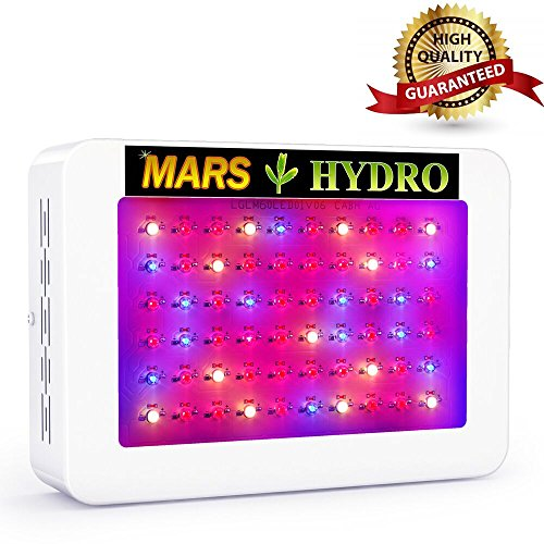 MarsHydro 300W LED Grow Light Full Spectrum for Hydroponic Indoor Plants Growing Veg and Flower by Marshydro