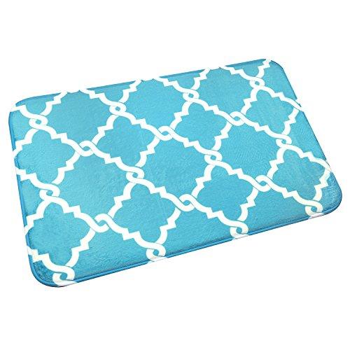 Bath Mat, U'Artlines Comfort Extra Thick Memory Foam Bath Mat Set Bathroom Mats Shower Rugs with Sbr Back and Flannel Surface (17.7x47.3, Blue) by U'Artlines (Image #7)