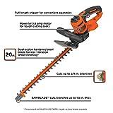 BLACK+DECKER BEHTS300 20' Hedge Trimmer W/Saw, Orange