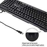 DBPOWER 7 Colors LED Backlit Gaming Keyboard, USB Wired Computer Keyboard