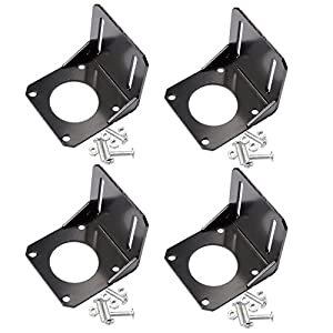 Qunqi 4Pcs Nema 23 Stepper Motor Mounting Bracket 57mm Stepper Motor Holder with Mounting Screws by Qunqi