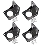 Qunqi 4Pcs Nema 23 Stepper Motor Mounting Bracket 57mm Stepper Motor Holder with Mounting Screws