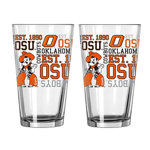 Ncaa Oklahoma State Cowboys Glass - NCAA Oklahoma State Cowboys  Pint Glass, 16-ounce, 2-Pack