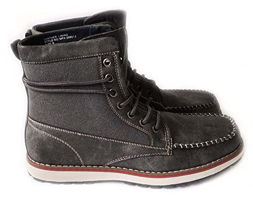 Nytt Mode Mens Militära Strids Stil Boots Läder Fodrade Skor Snör Åt Upp Grey508013