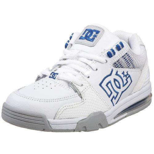 DC Kids Versatile Skate Shoe (Big Kid),White/Royal,6 M US Big Kid