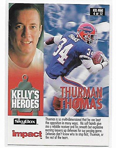 1993 Skybox Impact Kelly's Heroes #KEL-MAG 4 Thurman Thomas/Barry Sanders NM-MT