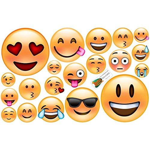 Emoji Classic Faces Vinyl Sticker Sheet of 20 Laptop Car Cra