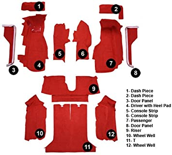 Complete ACC 1984-1987 Corvette Carpet Replacement Cutpile Complete with Pad Factory Fit Fits: Coupe