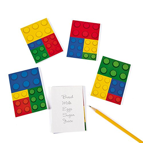 Color Brick Party Notepads Count