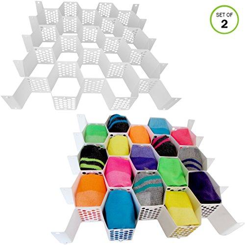 56 Slots Plastic Honeycomb Drawer Organizers