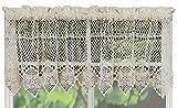 Cheap Creative Linens Cotton Crochet Lace Kitchen Curtain Valance Beige Handmade