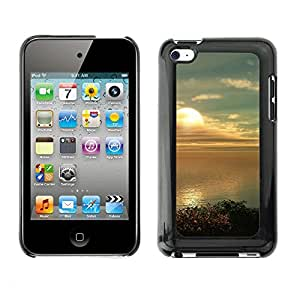 Soft Silicone Rubber Case Hard Cover Protective Accessory Compatible with Apple IPod Touch 4 - Sunset Beautiful Nature 80
