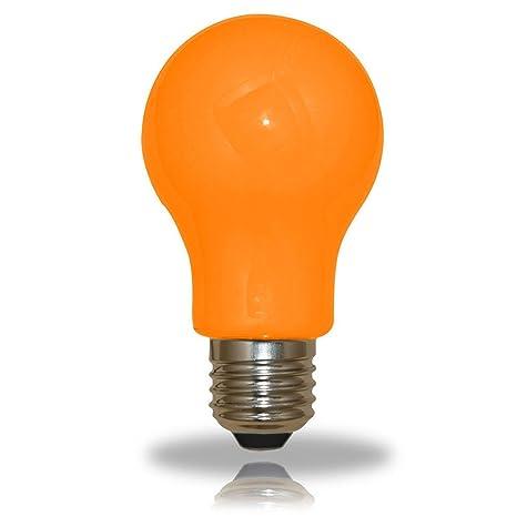 De Ampoule Et En Orange Forme Couleur Poire 3 Led W25 mnv80wyNO