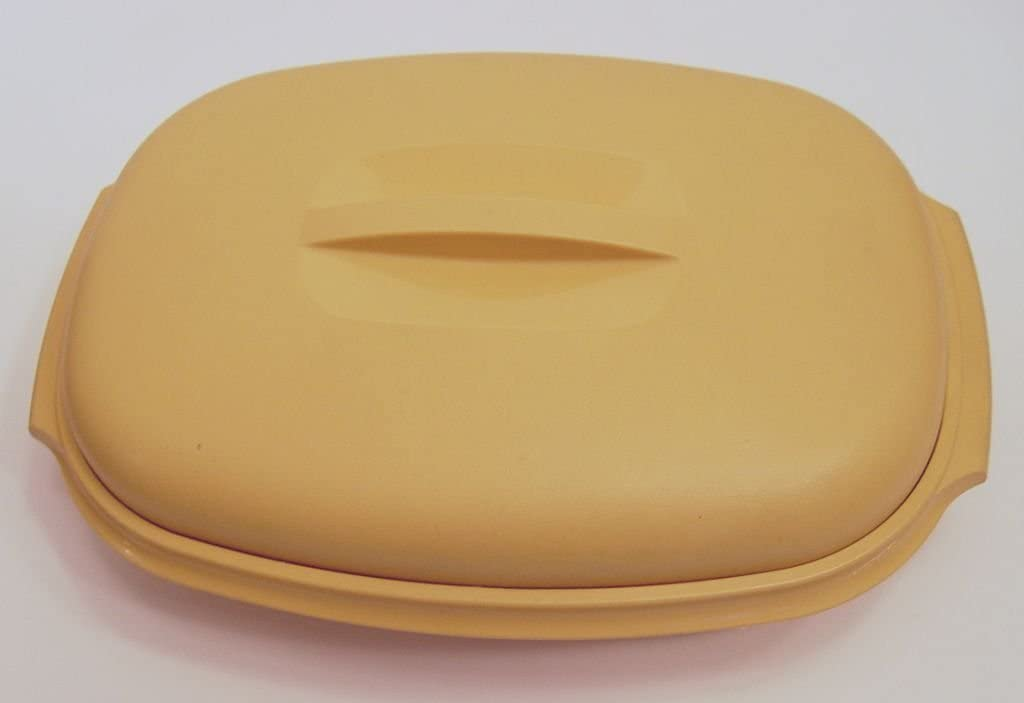 Vintage Tupperware Large Gold Oval Veggie Bowl Microwave NO INSERT