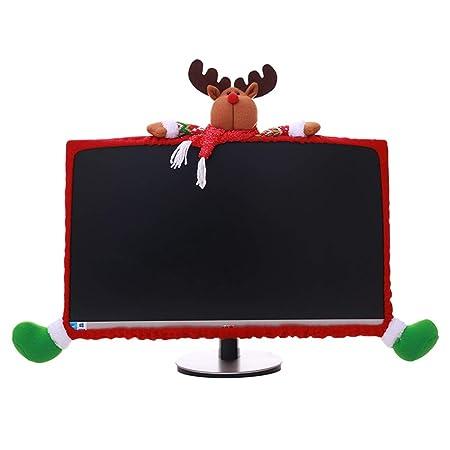 Jinxuny TV Decoraciones navideñas, Papá Noel Muñeco de Nieve Elk ...