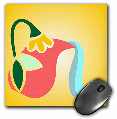 Flowered Pitcher - 3dRose TNMGraphics Food and Drink - Flowered Greek Pitcher Pouring Water - Mousepad (mp_222927_1)