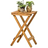 Folding Table Solid Wood Living Room Folding Small Table Balcony Coffee Table Outdoor (Learn, Work, Game) (Color : Wood color)