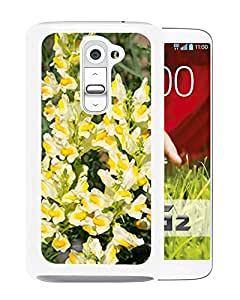 New Custom Designed Cover Case For LG G2 With Yellow Toadflax Flower Mobile Wallpaper Phone Case