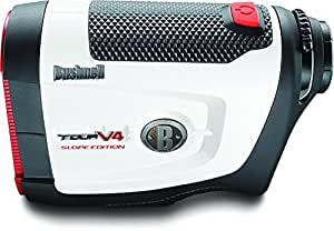 Bushnell Tour V4 JOLT Slope Edition Golf Laser Rangefinder, White