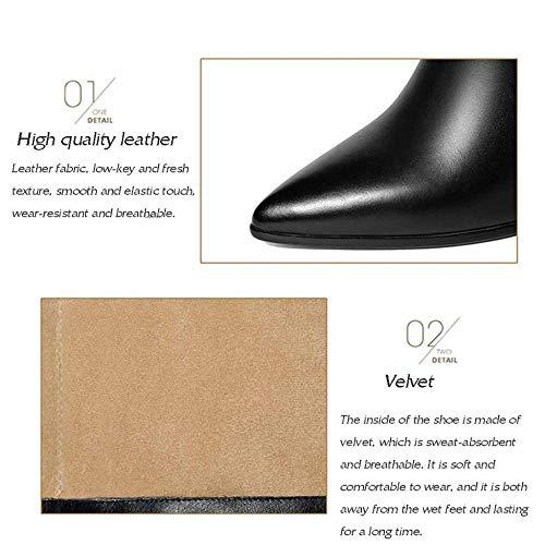 Stivali ginocchio Winter For Sopra Work Li Ladies Beige Leather al and Miss Fall gaEIqn