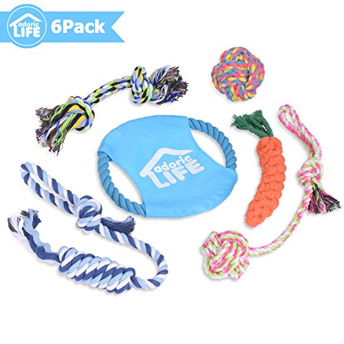 Adoric Life Dog Toys, Puppy Toys Pet Dog Rope Toys Ultra Durable Dog Chew Toy Set for Small to Medium Dogs - Set of 6