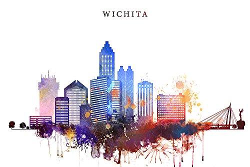Review Wichita Print, Kansas Cityscape