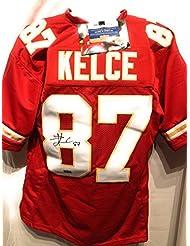 Travis Kelce Kansas City Chiefs Signed Autograph Red Custom Jersey Radtke Sports Certified