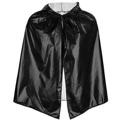 (SUNYIK Metallic Unisex Kid's Long Hooded Cloak Cape Halloween Christmas Robes Costumes,Giltter)