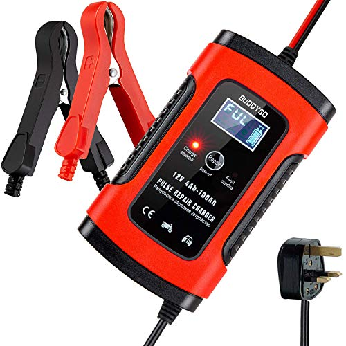 BUDDYGO Car Battery Charger, Battery Charger & Maintainer, 6A 12V Fully Automatic...
