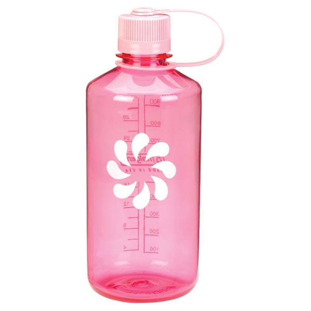 Nalgene Tritan 32 Ounce Narrow Mouth BPA-Free Water Bottle Clear Pink