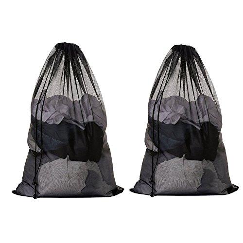 Meowoo 2 Pcs Large Laundry Bag with Drawstring Mesh Laundry Bag for Washing Machine(27.5×36 inch)