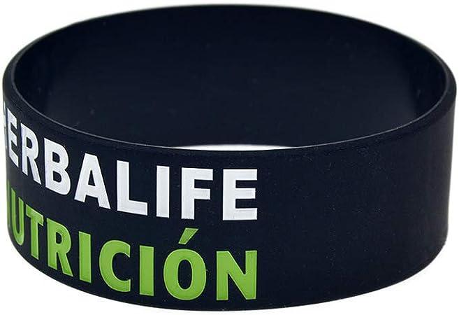 ZBDuDu 2 pulseras de silicona Herbalife Nutricion 24 horas 2.5 cm pulsera de silicona correa de mano