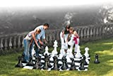 rolly toys Kettler Giant Chess Pieces Complete Set with 25 Inches Tall King - White and Black