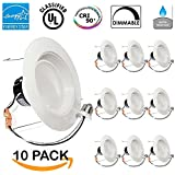 - 13Watt 5/6-inch ENERGY STAR UL-listed Dimmable LED Recessed Lighting Fixture Downlight Retrofit Kit (Baffle)- 5000K Daylight LED Ceiling Light -- 831LM, CRI 90 by Sunco Lighting