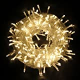 Christmas String Lights 30M/100ft 200LED Fairy String Light Battery Powered,Waterproof Indoor outdoor Light for Bedroom, Garden, New Year, Home Decoration(Warm White)